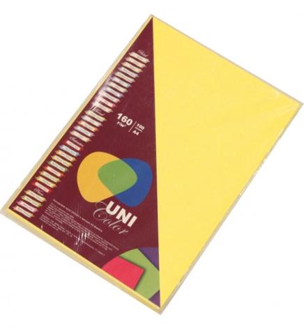 Бумага Uni Color Intensive A4 160 г/м2, 100 л Canary Yellow (желтый) 154035