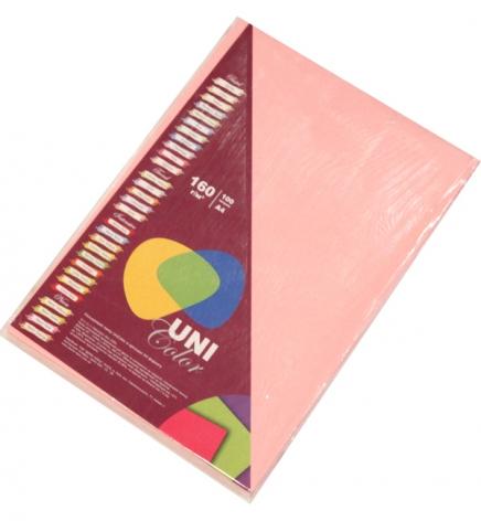 Бумага Uni Color Pastel A4 160 г/м2, 100 л Pink (розовый) 154039