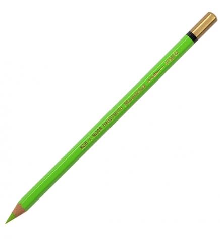 Карандаш акварельный MONDELUZ цвет yellowish green Koh-i-noor 3720022002KS