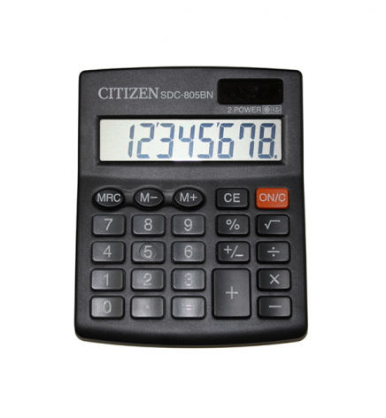 Калькулятор 8р. Citizen SDC-805BN