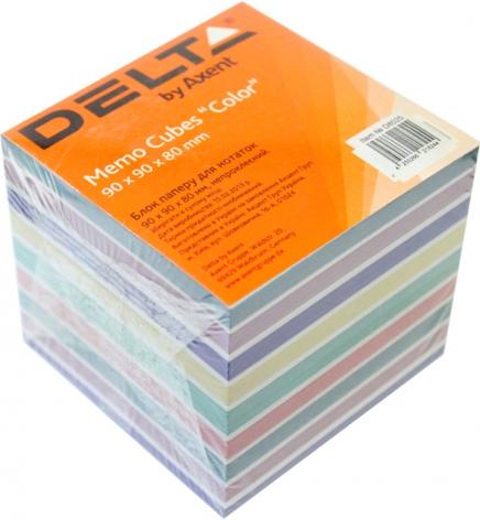 Бумага для заметок Delta Color  90 х 90 х 80 мм, не проклеенная, Delta by Axent D8025