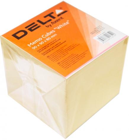 Бумага для заметок Delta D8005, 90 х 90 х 80 мм, не проклеенная, белый,  Delta by Axent D8005