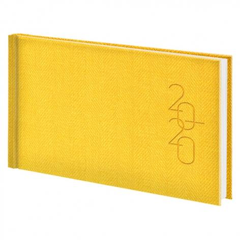Еженедельник карманный датированный BRUNNEN 2020 Tweed желтый 73-755 32 10