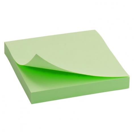 Блок бумаги с липким слоем 75x75 мм, 100 листов  Delta by Axent D3314-02 пастельный зеленый