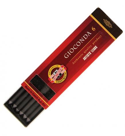 Грифель для цангового карандаша графит натуральный Gioconda, 5.6 мм, Koh-i-noor 4865 6B
