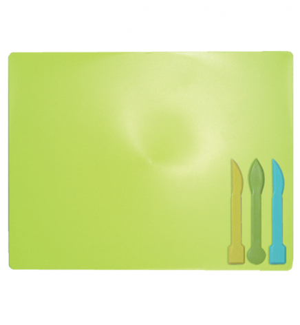 Доска для лепки А5+ и 3 стека ZiBi ZB.6910-15 салатовый