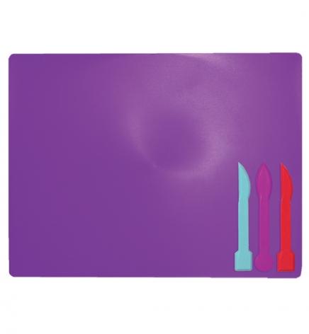 Доска для лепки А5+ и 3 стека ZiBi ZB.6910-07 фиолетовый