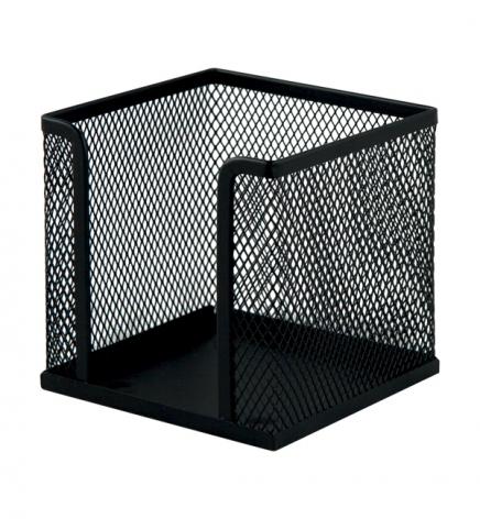 Бокс для бумаги 100 х 100 x 100 мм, металлический, Buromax BM.6215-01 черный