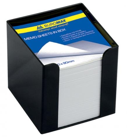 Бокс для бумаги 9 х 9 х 9 см в комплекте с бумагой Buromax BM.2290-01