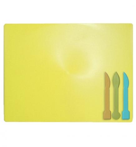 Доска для лепки А5+ и 3 стека ZiBi ZB.6910-08 желтый