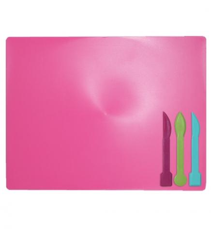 Доска для лепки А5+ и 3 стека ZiBi ZB.6910-10 розовый