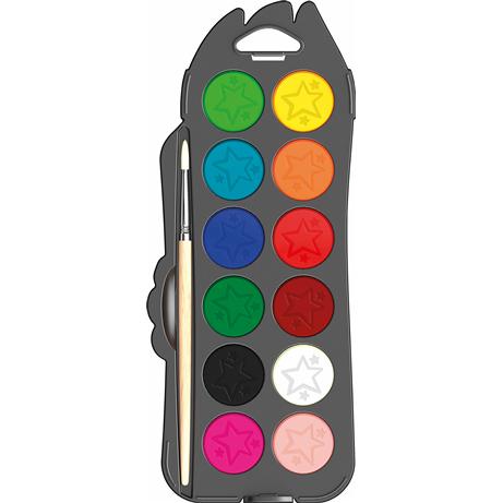 Акварель полусухая Maped Color Peps 12 цветов с кистью Maped MP.811520