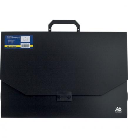 Портфель пластиковый на 1 отделение, А3 (445 х 312 х 32 мм) Buromax ВМ.3725-01 черный