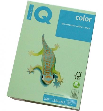 Бумага Color IQ Pastel A3 160 г/м2, 250 л Green (cветло-зеленый) MG28