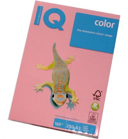 Бумага Color IQ Pastel A3 160 г/м2, 250 л Pink (розовый) PI25