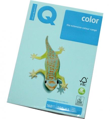 Бумага Color IQ Pastel A3 160 г/м2, 250 л Medium Blue (голубой) MB30