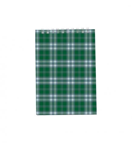 Блокнот на пружине, В6- ( 95 х 140 мм) 48 л., клетка, картонная обложка Buromax BM.2480-04 зеленый