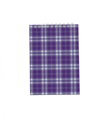 Блокнот на пружине, В6- ( 95 х 140 мм) 48 л., клетка, картонная обложка Buromax BM.2480-07 фиолетовый