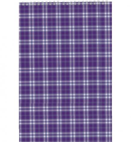 Блокнот на пружине, А4, 48 л., клетка, картонная обложка Buromax BM.2460-07 фиолетовый