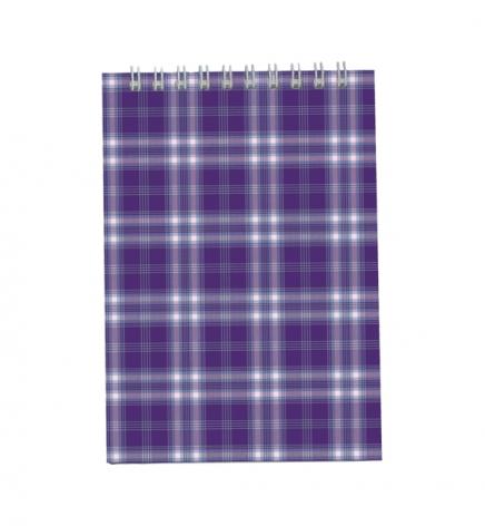 Блокнот на пружине, А5 ( 150 х 210 мм) 48 л., клетка, картонная обложка Buromax BM.2470-07 фиолетовый