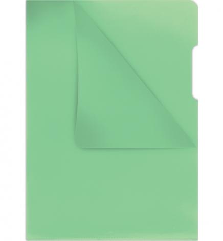 Папка-уголок А4 на 1 отделение, плотная 180 мкм, DONAU 1784095PL-06 зеленый