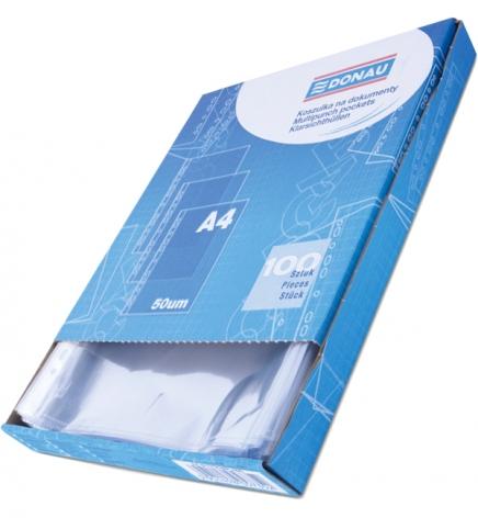 Файлы А4, 50 мкм, 100 шт./уп. глянец Donau 1772100PL-00B в картонной коробке