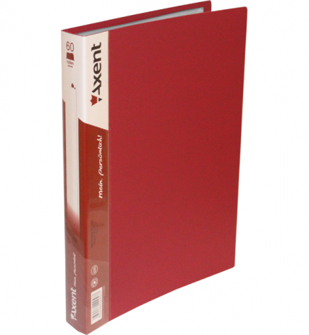 Дисплей-книга на 60 файлов, AXENT 1060-04-А бордовый
