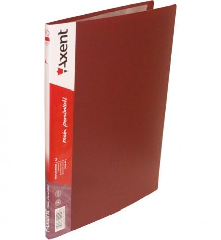 Дисплей-книга на 10 файлов, AXENT 1010-04-А бордовый