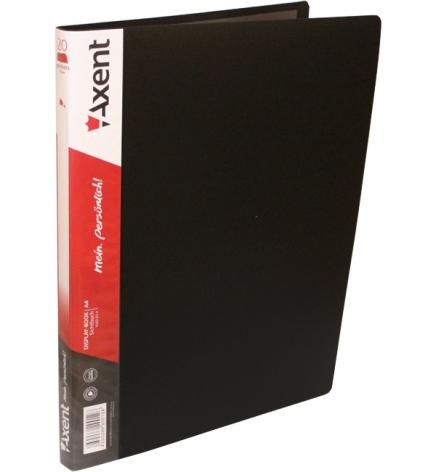 Дисплей-книга на 20 файлов, AXENT 1020-01-А черный