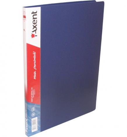 Дисплей-книга на 20 файлов, AXENT 1020-02-А синий