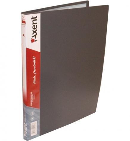 Дисплей-книга на 20 файлов, AXENT 1020-03-А серый