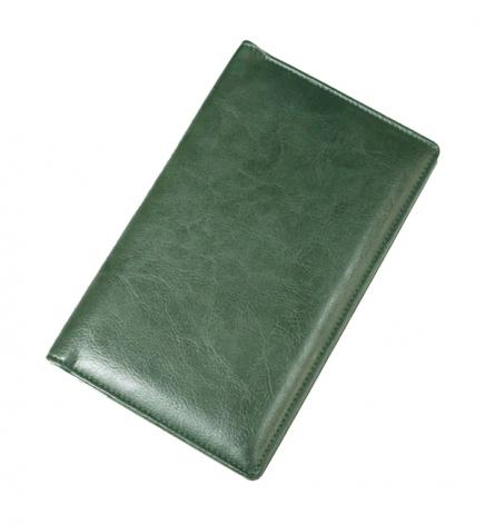 Визитница на 96 визиток (125 мм х 200 мм), Soft Brunnen 10-642 3650 зеленый