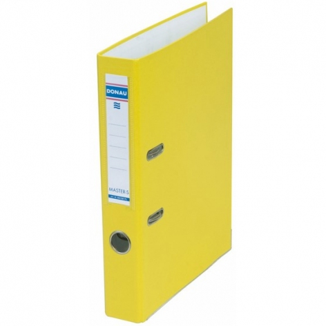 Папка-регистратор Master А4 5 см, односторонний, Donau 3950001M-11 желтый