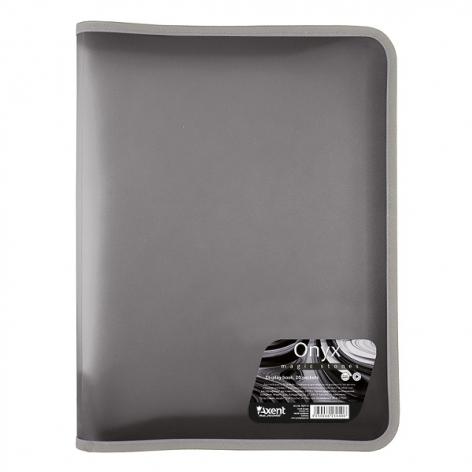 Папка А4 объемная на молнии Onyx AXENT 1811-14-A серый