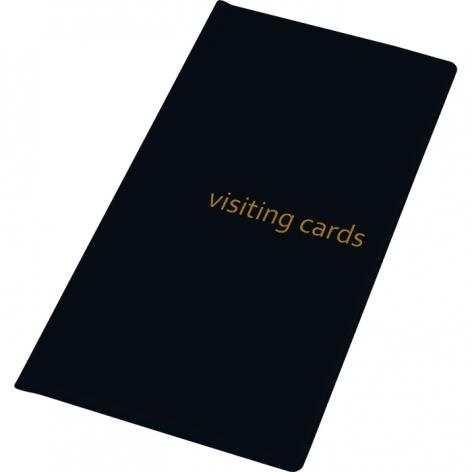 Визитница на 96 визиток, PVC (120 мм x 245 мм) Panta Plast 0304-0005-01 черный