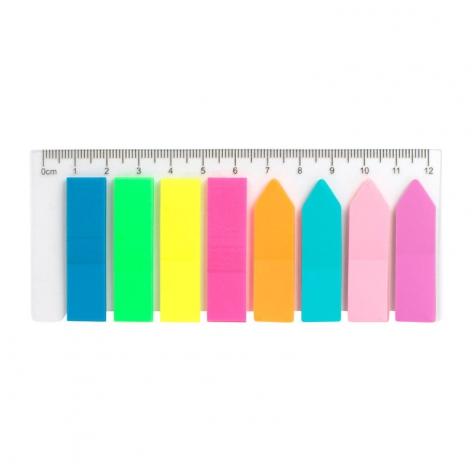Стикер-закладка пластиковая неоновая 8х12х45мм, 200 шт, Delta by Axent D2451
