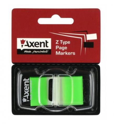 Закладки пластиковые (45 х 25 мм х 50 л.) AXENT 2446-02-А зеленый