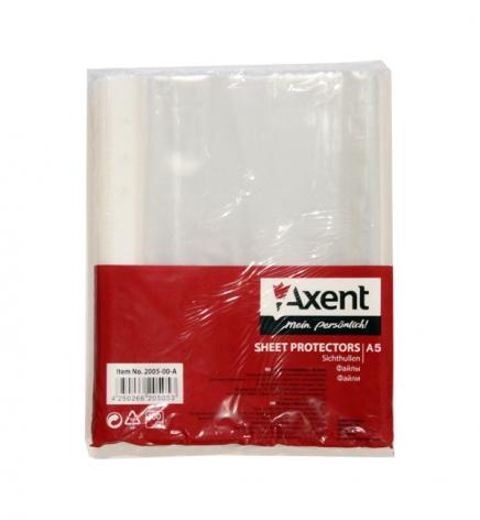Файлы А5, 40 мкм 100 шт./уп. Axent 2005-00A