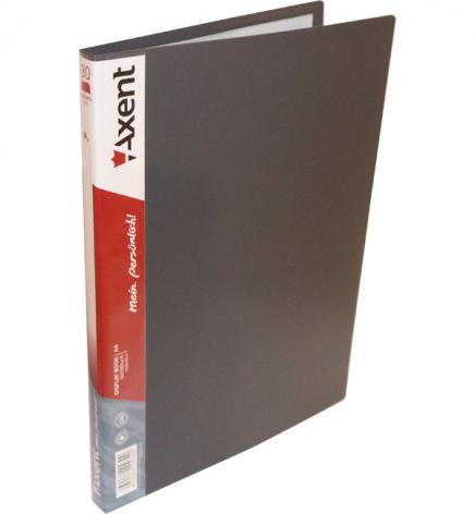 Дисплей-книга на 30 файлов, AXENT 1030-03-А серый