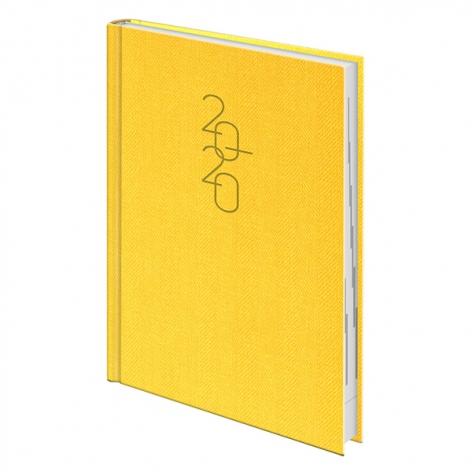 Ежедневник датированный BRUNNEN 2020 Стандарт Tweed желтый 73-795 32 10