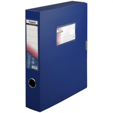 Бокс пластиковый для документов на липучке А4, ширина 60 мм Axent 1760-02-A  синий