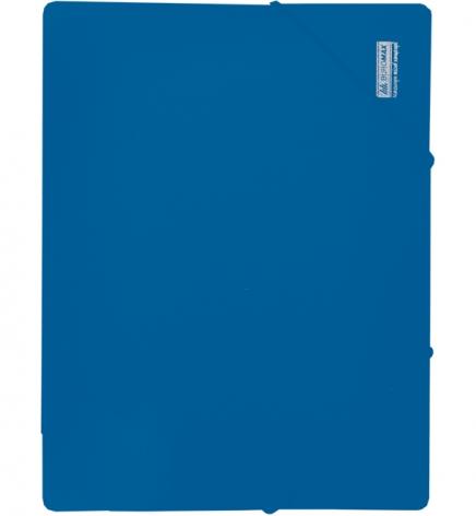 Папка пластиковая на резинках А4 непрозрачная JOBMAX Buromax BM.3911-02 синий