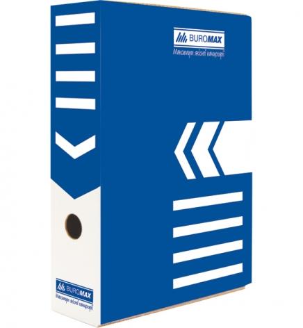 Бокс для архивации документов, ширина торца 80 мм Buromax BM.3260-02 синий