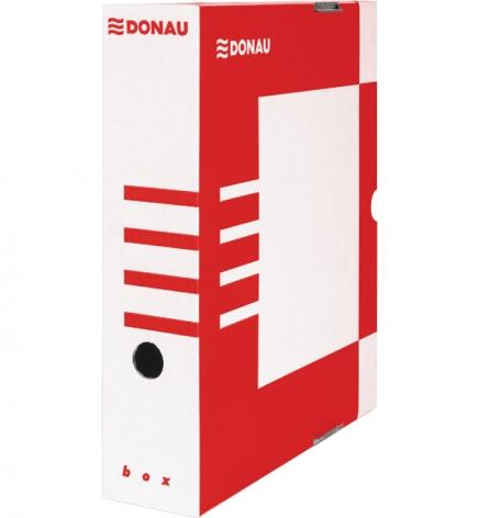 Бокс для архивации документов, 80 мм Donau 7660301PL-04 красный