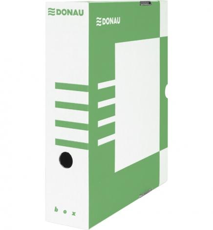 Бокс для архивации документов, 80 мм Donau 7660301PL-06 зеленый