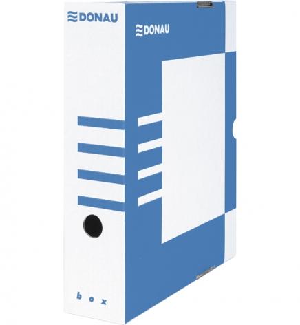 Бокс для архивации документов, 80 мм Donau 7660301PL-10 синий