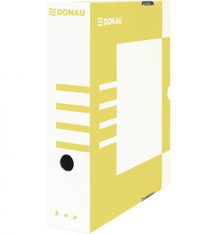Бокс для архивации документов, 80 мм Donau 7660301PL-11 желтый