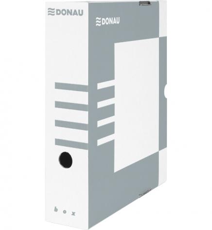 Бокс для архивации документов, 80 мм Donau 7660301PL-13 серый