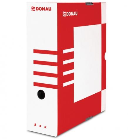 Бокс для архивации документов, 100 мм Donau 7661301PL-04 красный