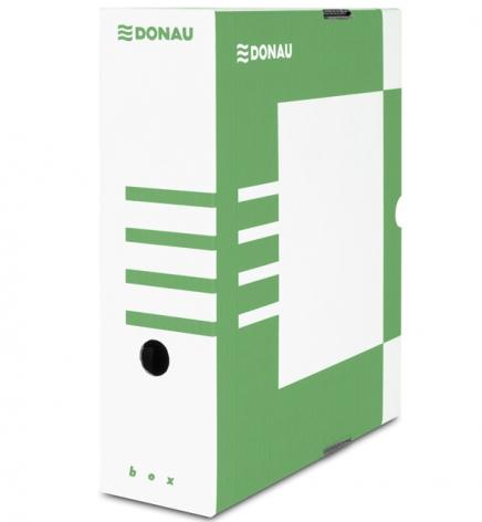 Бокс для архивации документов, 100 мм Donau 7661301PL-06 зеленый